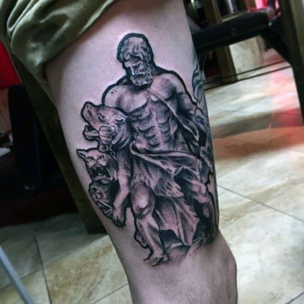 Male Hercules Thigh Tattoo Ideas