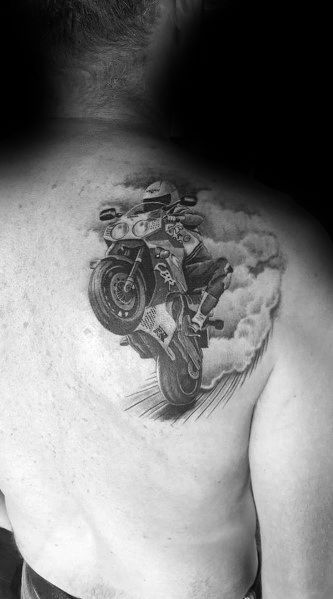 Male Honda Themed Tattoo Inspiration