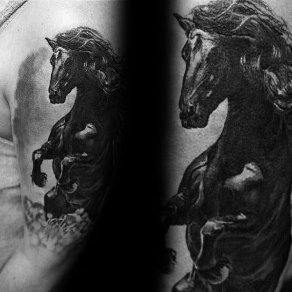 Male Horse Tattoo Design Inspiration