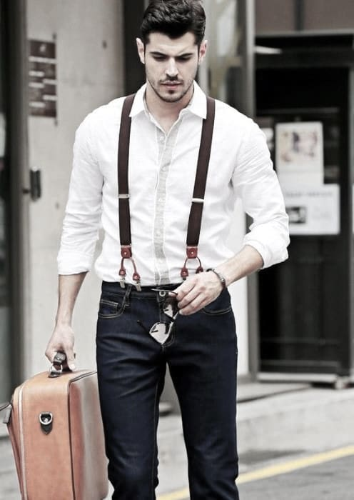 Male How To Wear Suspenders With Jeans Outfits Styles