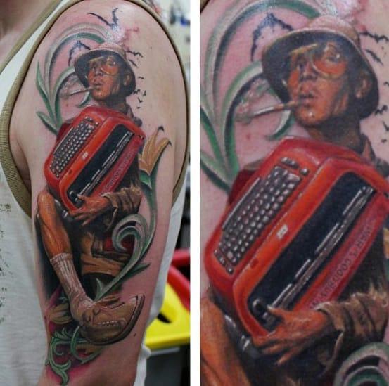 Male Hunter S Thompson Tattoos