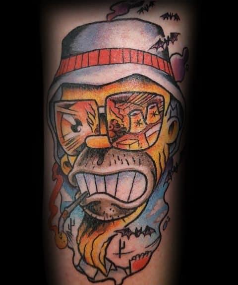 Male Hunter S Thompson Themed Tattoos