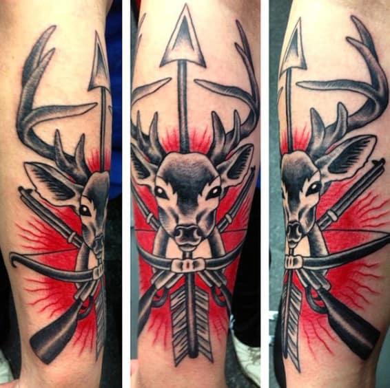Male Hunting Arrow Tattoo