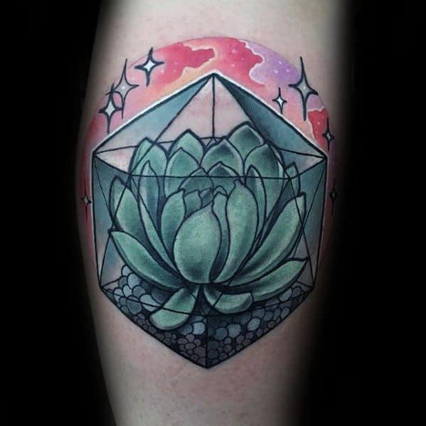 Male Icosahedron Tattoo Ideas