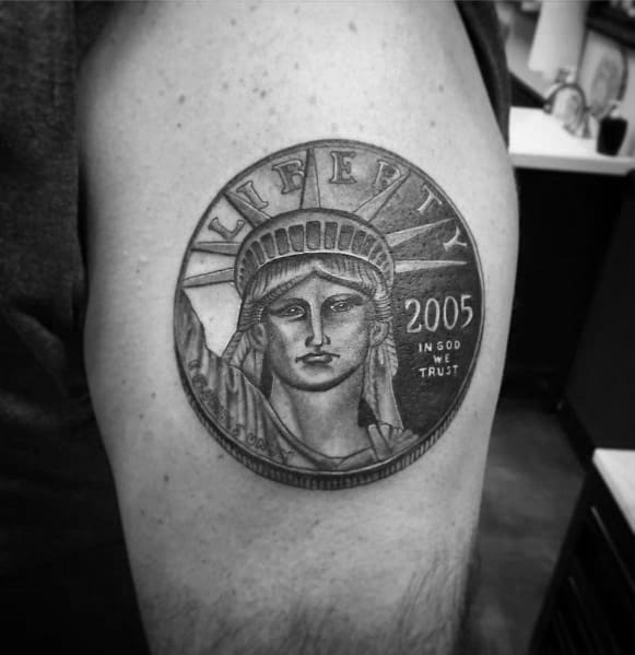 70 Coin Tattoo Ideas For Men – Currency Designs