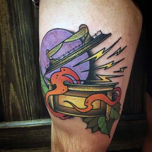 Male Indiana Jones Themed Tattoos