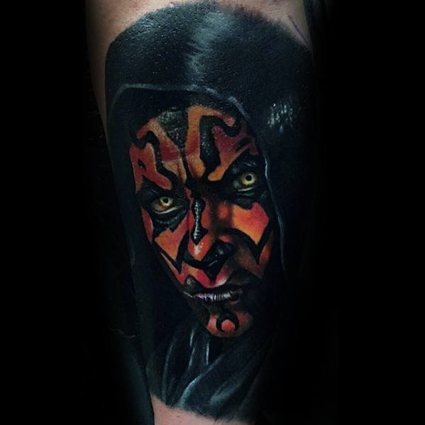 Male Inner Forearm Cool Darth Maul Tattoo Ideas