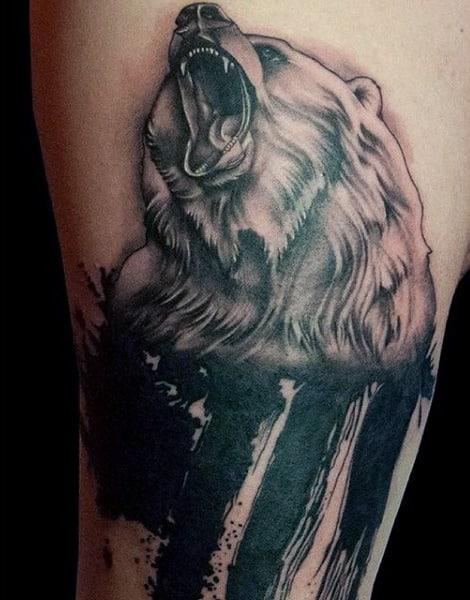 Male Japanese Bear Tattoo