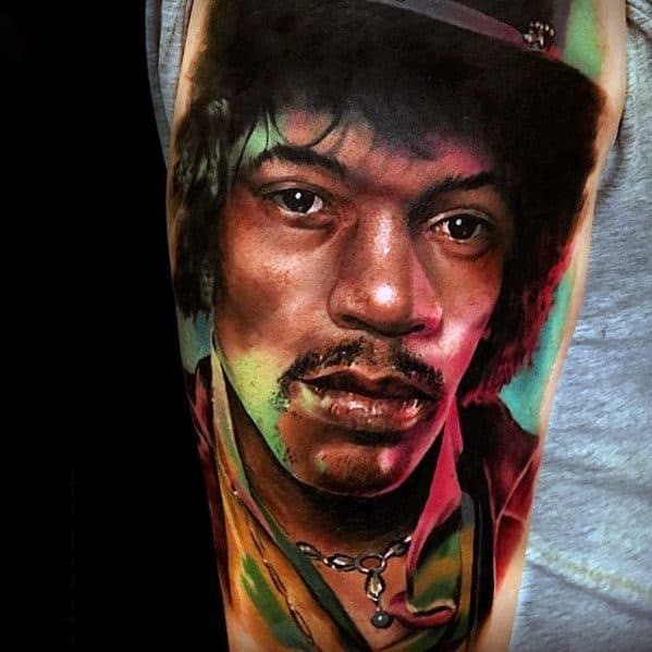 Male Jimi Hendrix Tattoo