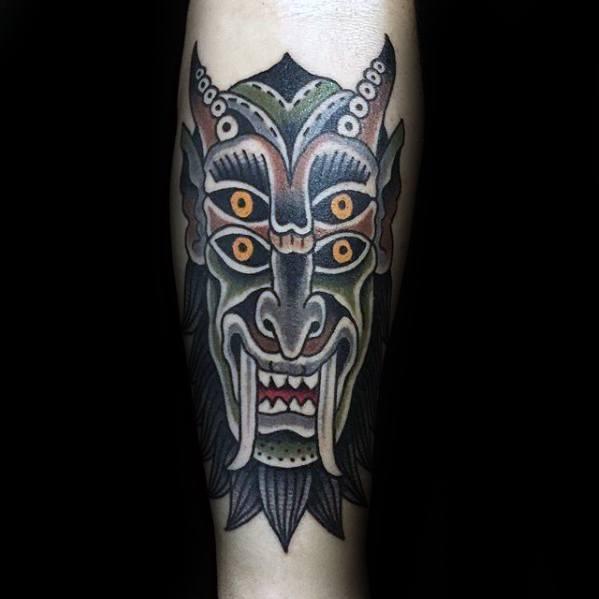 Male Krampus Tattoo Ideas
