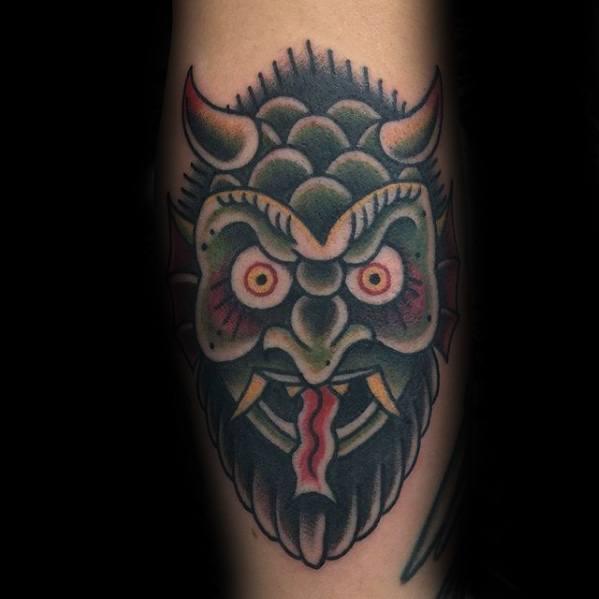 Male Krampus Tattoo