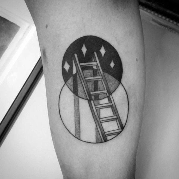 40 Ladder Tattoo Ideas For Men Rung Designs