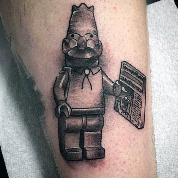 Male Lego Tattoo Design Inspiration
