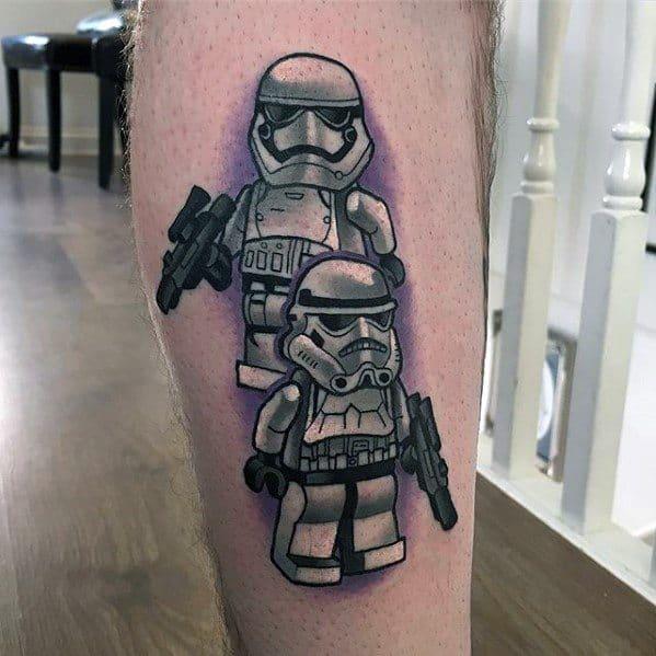 Male Lego Tattoo