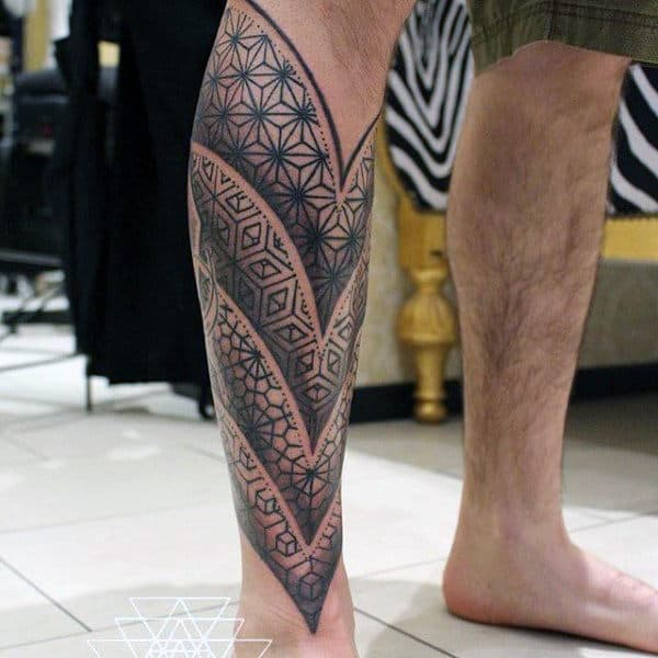 Male Legs Pattern Tattoo