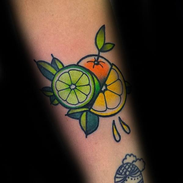 Male Lemon Tattoo Design Inspiration