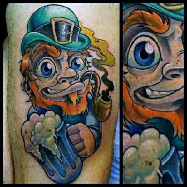 Male Leprechaun Tattoo Design Inspiration