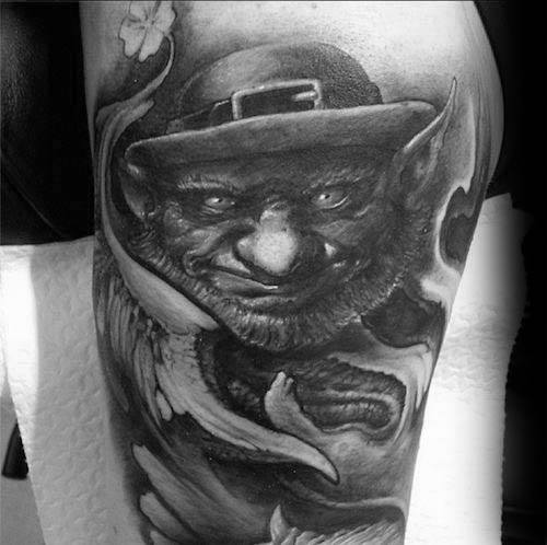 Male Leprechaun Tattoo Ideas