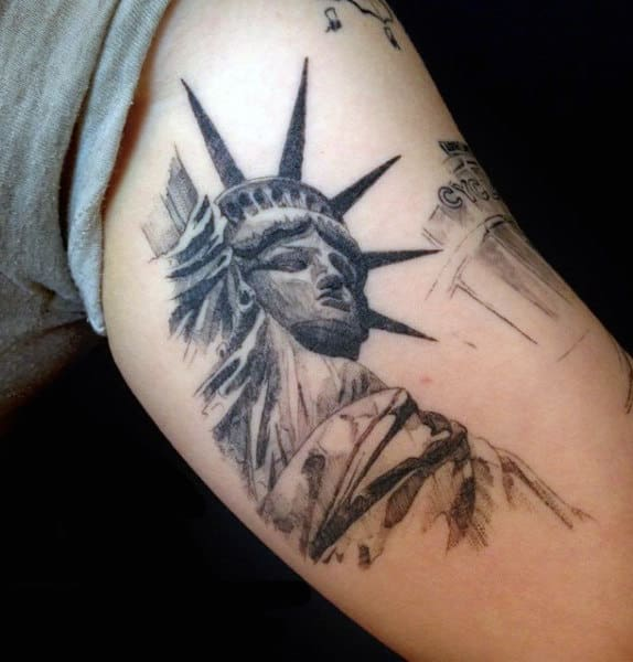 Male Liberty Enlightening The World Tattoo
