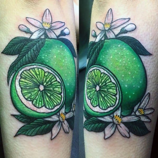Male Lime Themed Tattoo Inspiration