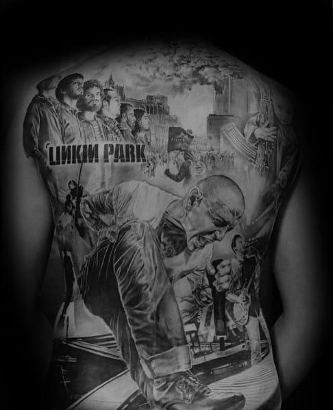 Male Linkin Park Themed Tattoos