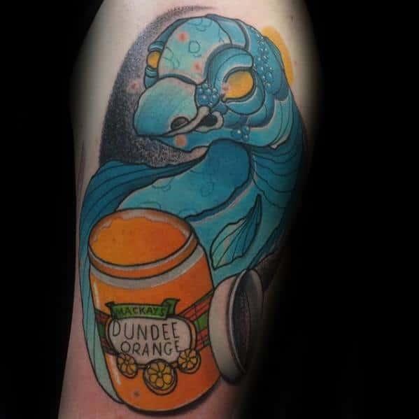 Male Loch Ness Monster Tattoo Ideas