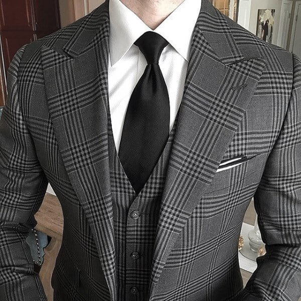 Male Looks Grey Suit Style