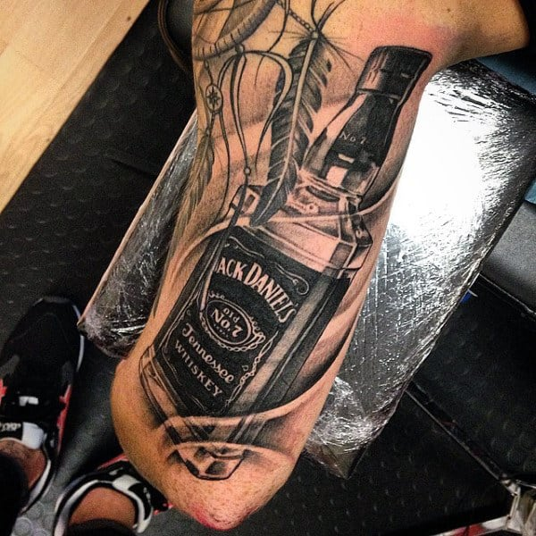 Male Lowerlegs Cool Tattoo Of Jack Daniels