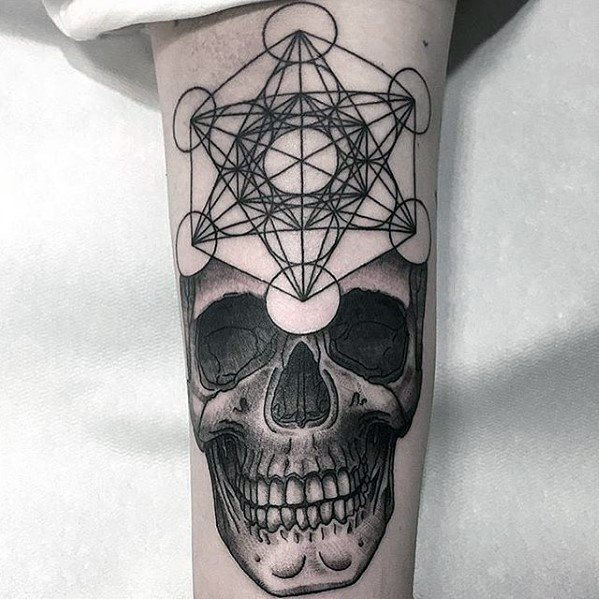 Male Metatrons Cube Tattoo Ideas
