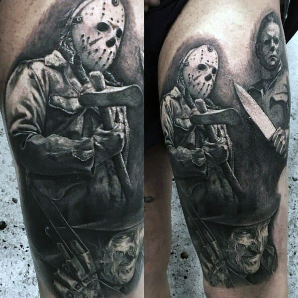 Male Michael Myers Themed Tattoo Inspiration