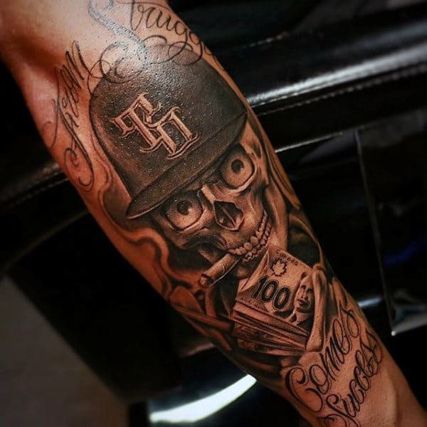 Male Money Half Sleeve Tattoos