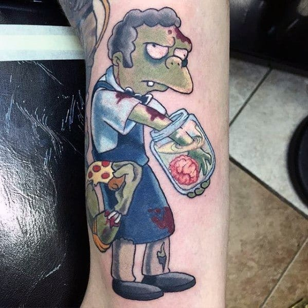 Male Mort Simpsons Themed Tattoos