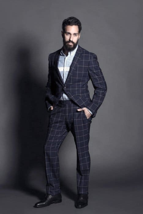 Male Navy Blue Suit Black Shoes Styles