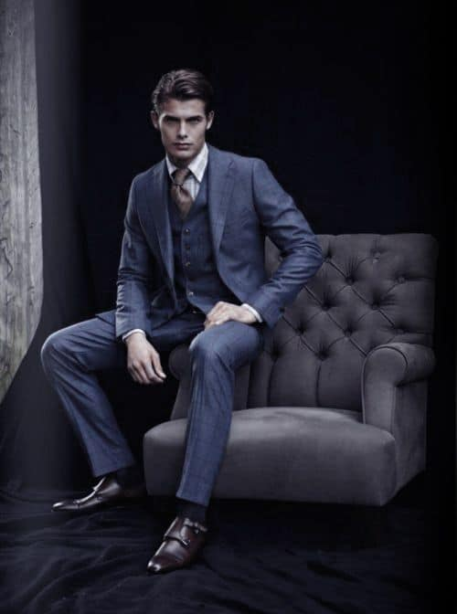 Male Navy Blue Suit Brown Shoes Ideas