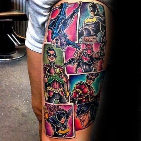 Male Nightwing Tattoo Design Inspiration