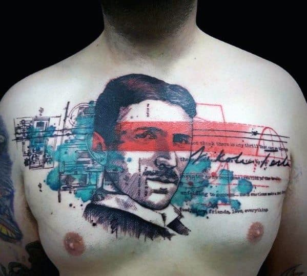 Male Nikola Tesla Tattoo Ideas