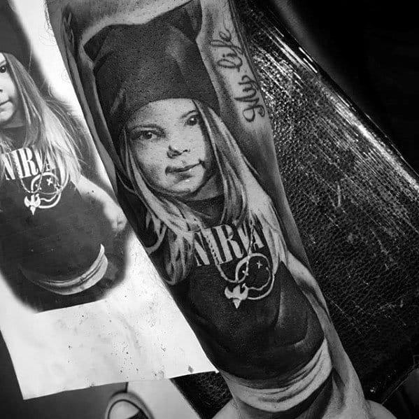 Male Nirvana Tattoo Design Inspiration