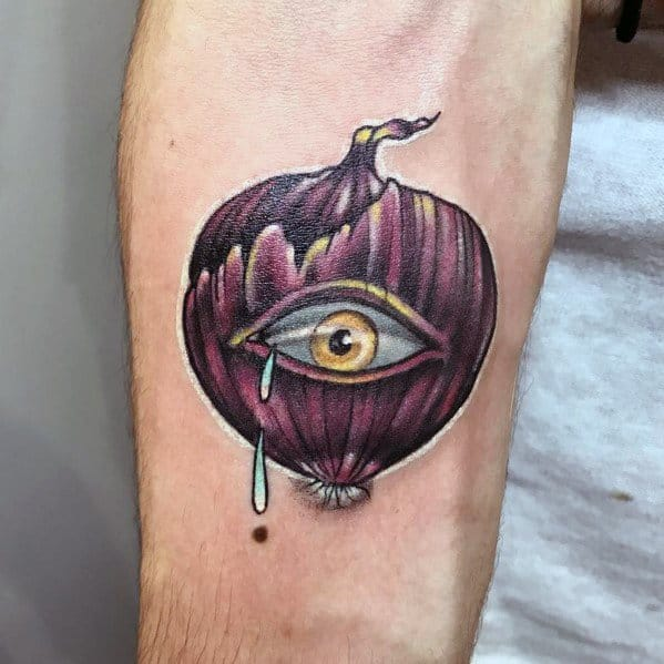 Male Onion Themed Tattoo Inspiration