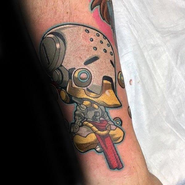 Male Overwatch Tattoo Design Inspiration