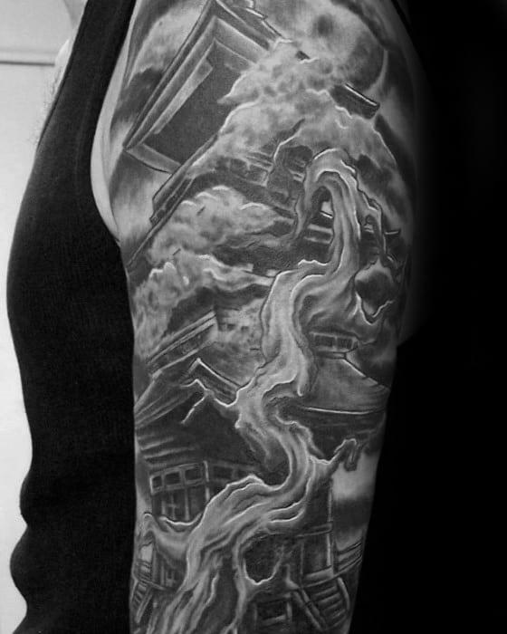 Male Pagoda Tattoo Ideas