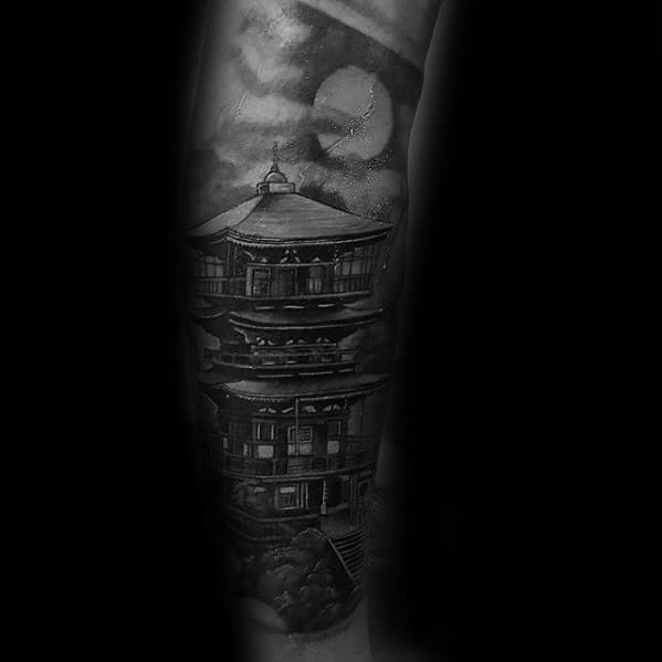 Male Pagoda Tattoo