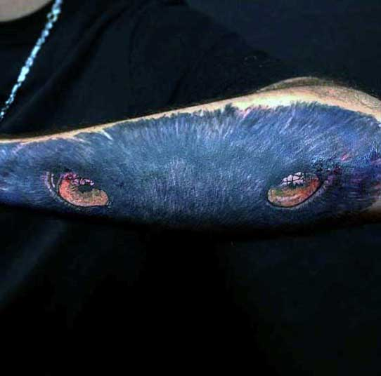 Male Panther Head Tattoos Forearm