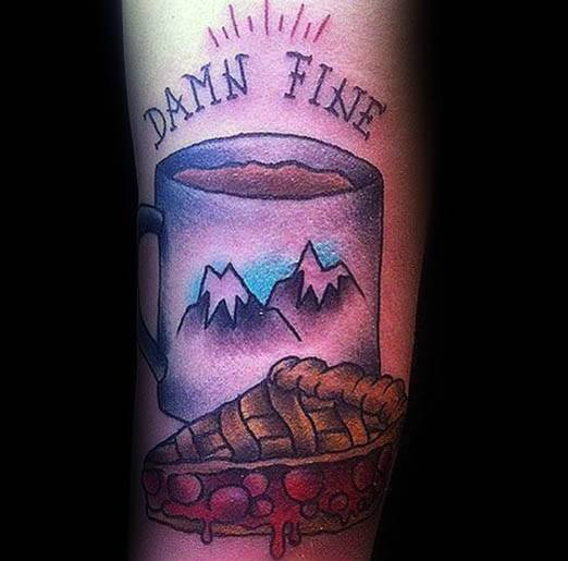 Male Pie Themed Tattoos