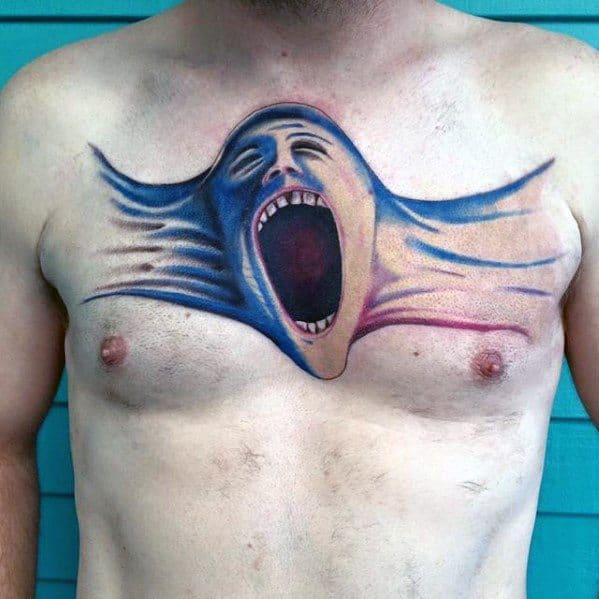 Male Pink Floyd Tattoo Ideas On Chest