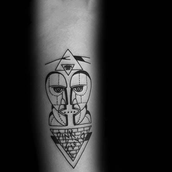 Male Pink Floyd The Division Bell Tattoos Inner Forearm