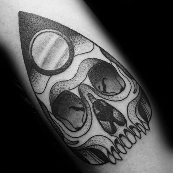 40 planchette tattoo designs for men ouija board ink ideas. Black Bedroom Furniture Sets. Home Design Ideas