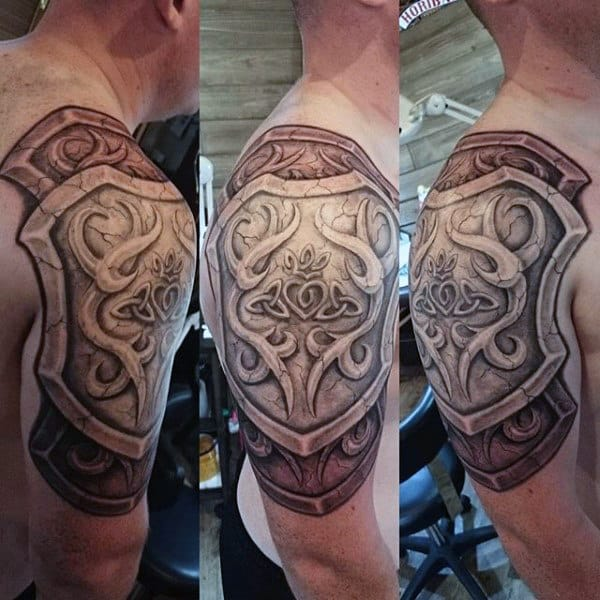 Male Plate Armor Tattoo