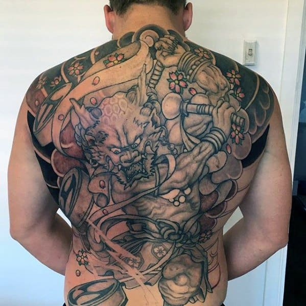 Male Raijin Tattoo Design Inspiration