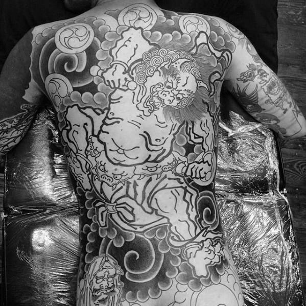 Male Raijin Tattoo