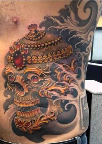50 tibetan skull tattoo designs for men kapala ink ideas. Black Bedroom Furniture Sets. Home Design Ideas